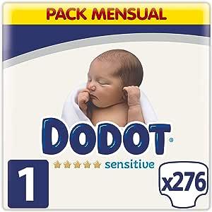 Dodot Sensitive pañales talla 1, 276 pañales, 2-5 kg: Amazon.es: Salud y cuidado personal