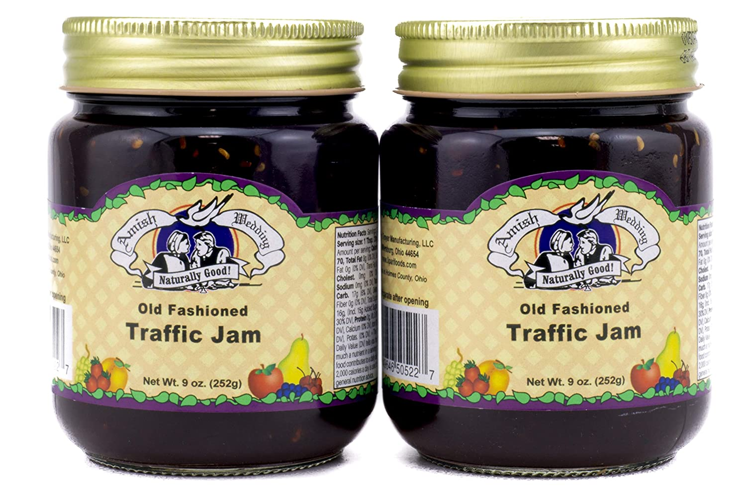 Amish Wedding Foods Old Fashioned Traffic Jam- 9 oz - 2 Jars