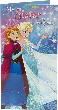 Super Amazon Com Disney Frozen Anna Elsa Sister Birthday Card Funny Birthday Cards Online Barepcheapnameinfo