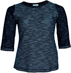514c770b01d9e6 Chalou T-Shirt Pullover Frühling Sommer Sweatshirt für Mollige Damen  Meliert Stretch Blau