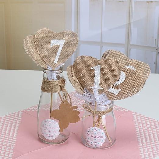 Números de mesa para boda de arpillera decoraciones, riscawin1 ...