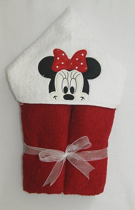 Minnie mouse personalizado hecho a mano 100% algodón suave de rizo de tamaño infantil con