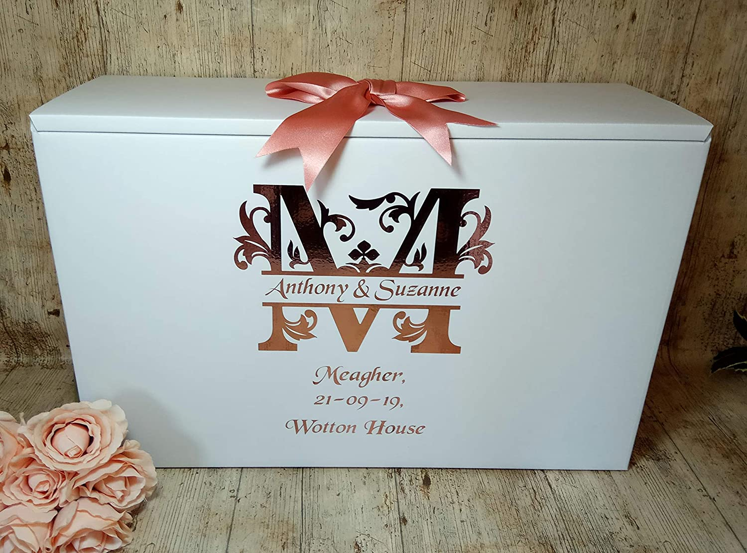 Wedding Dress Box Wedding Dress Travel Box Airline Box Personalised With Monogram Initial Of Surname A To Z Letters Available Acid Free Ph Neutral Amazon Co Uk Handmade