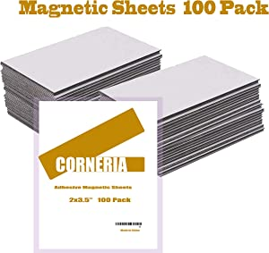 Corneria Self Adhesive Business Card Magnets 20mil - Peel and Stick - Pack of 100