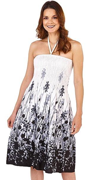 93c421e80793 Donna Pistachio 2 In 1 Abito Prendisole Da Donna In Cotone Floreale Lungo  Gonna Estiva  Amazon.it  Abbigliamento
