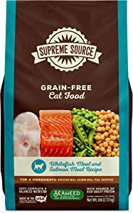 Supreme Source Grain Free Dry Cat Food, Whitefish Meal & Salmon Meal Recipe, 6 Pound Bag