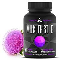 Organic Milk Thistle Extract Capsules- 100 Capsules 1950 Milligrams - Promotes Liver...