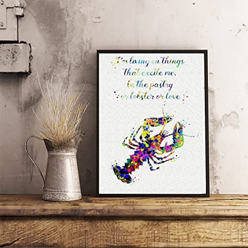 Amazon Loobster Quote Watercolor Posters Art Prints Wall Decor