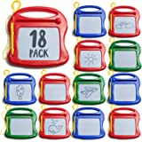 Prextex 18 Pack Mini Doodle Pads Toy Tablets Drawing Pads Doodle Pads for Kids Bulk Toys Board Set – Magnetic Drawing Pad Era