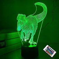 Dinosaurus 3D lamp, CooPark Illusion Hologram nachtlampje met 16 kleuren veranderen Afstandsbediening Dimmerfunctie…
