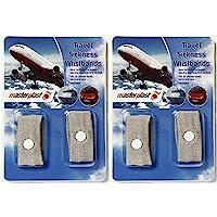 2 Packs Anti Nausea Morning Sickness Motion Travel Sick Wrist Bands . Car Sea / Boats Planes