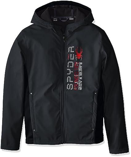 Spyder Delta Full Zip Hoody, Polar/Black/Formula, Medium