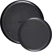 """T-fal Airbake Nonstick Pizza Pan, Set of 2, 12.75"""" and 15.75"""