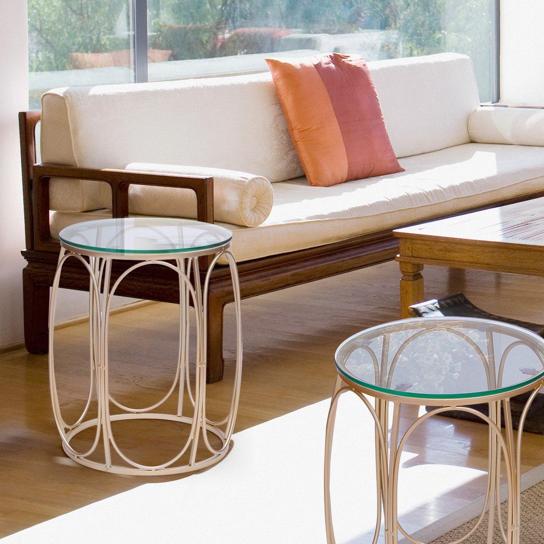 amazon com joveco golden modern designed accent metal nesting