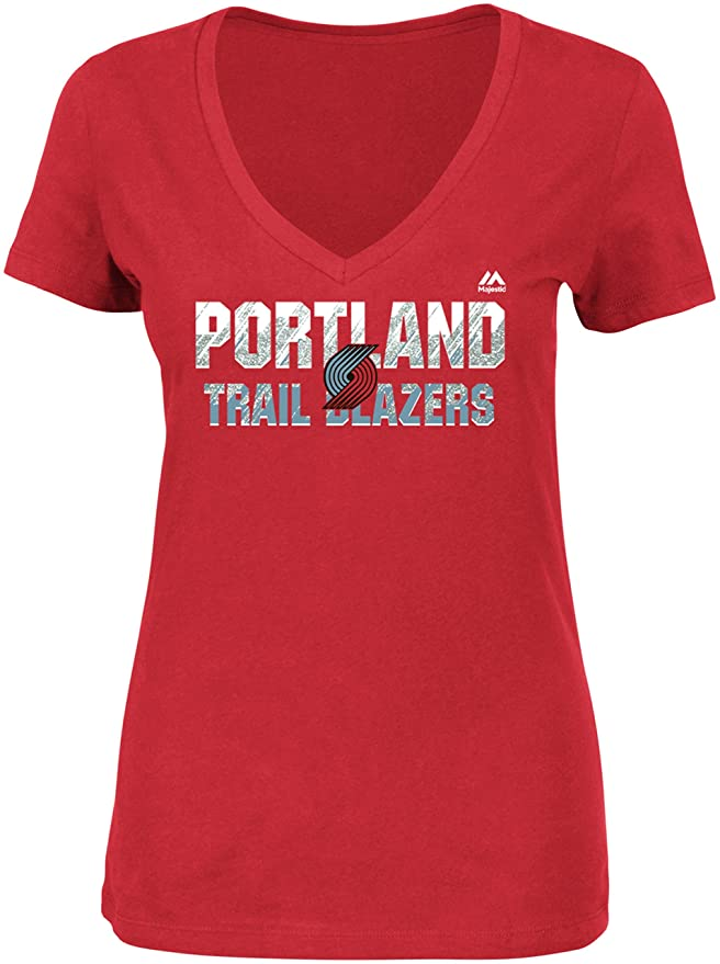 NBA Portland Trail Blazers Women's Short Sleeve V-Neck Tee
