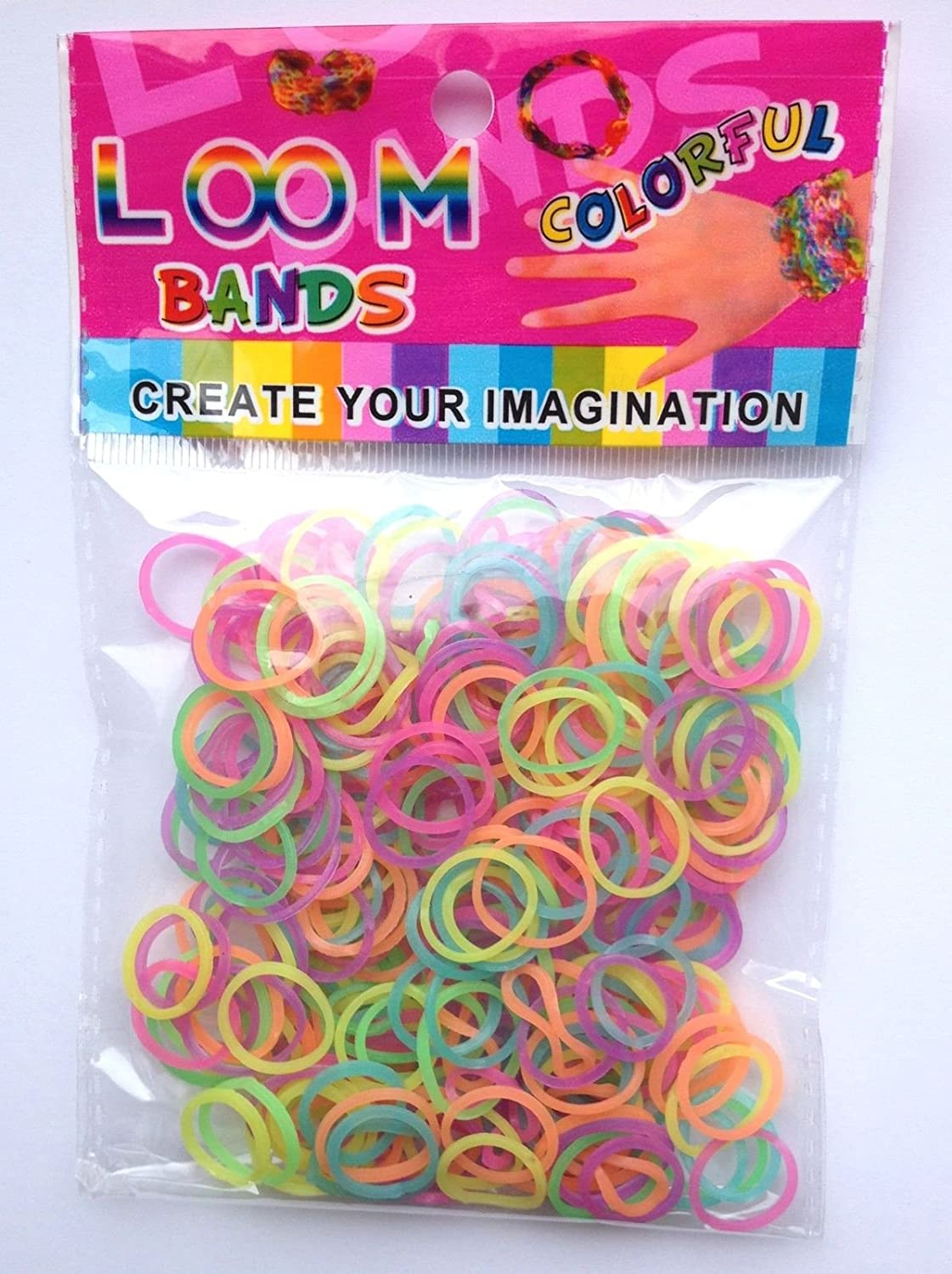 00 COLOURFUL RAINBOW LOOM BANDZ BANDS BRACELET MAKING KIT PARTY (Glow in the dark) LEGEND