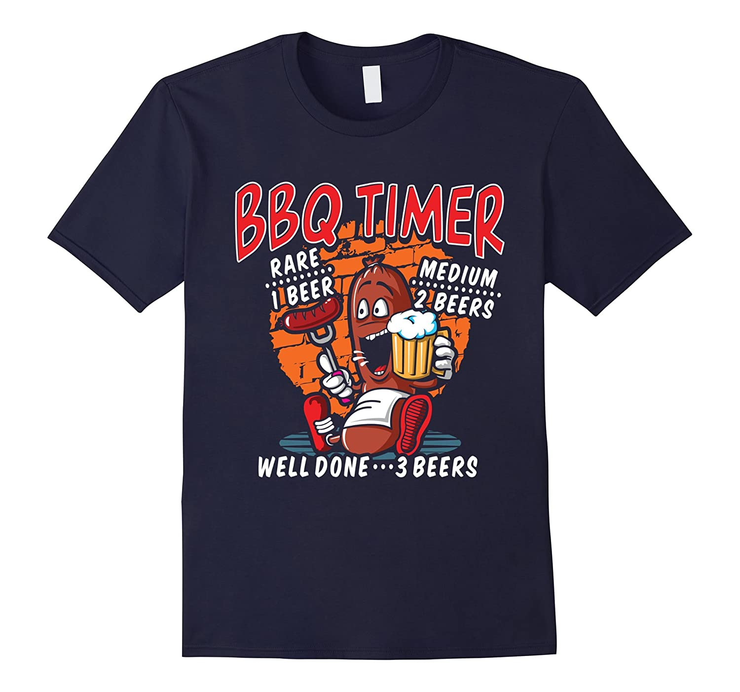 BBQ Timer Rare 1 Beer Medium 2 Beers Well Done 3 Beers Tees-T-Shirt