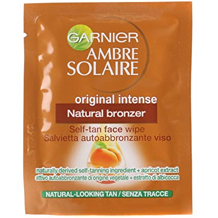 Garnier ambre solaire bronceado Natural Bronceador Self cara Toallitas original intenso 4 Individuales Packs