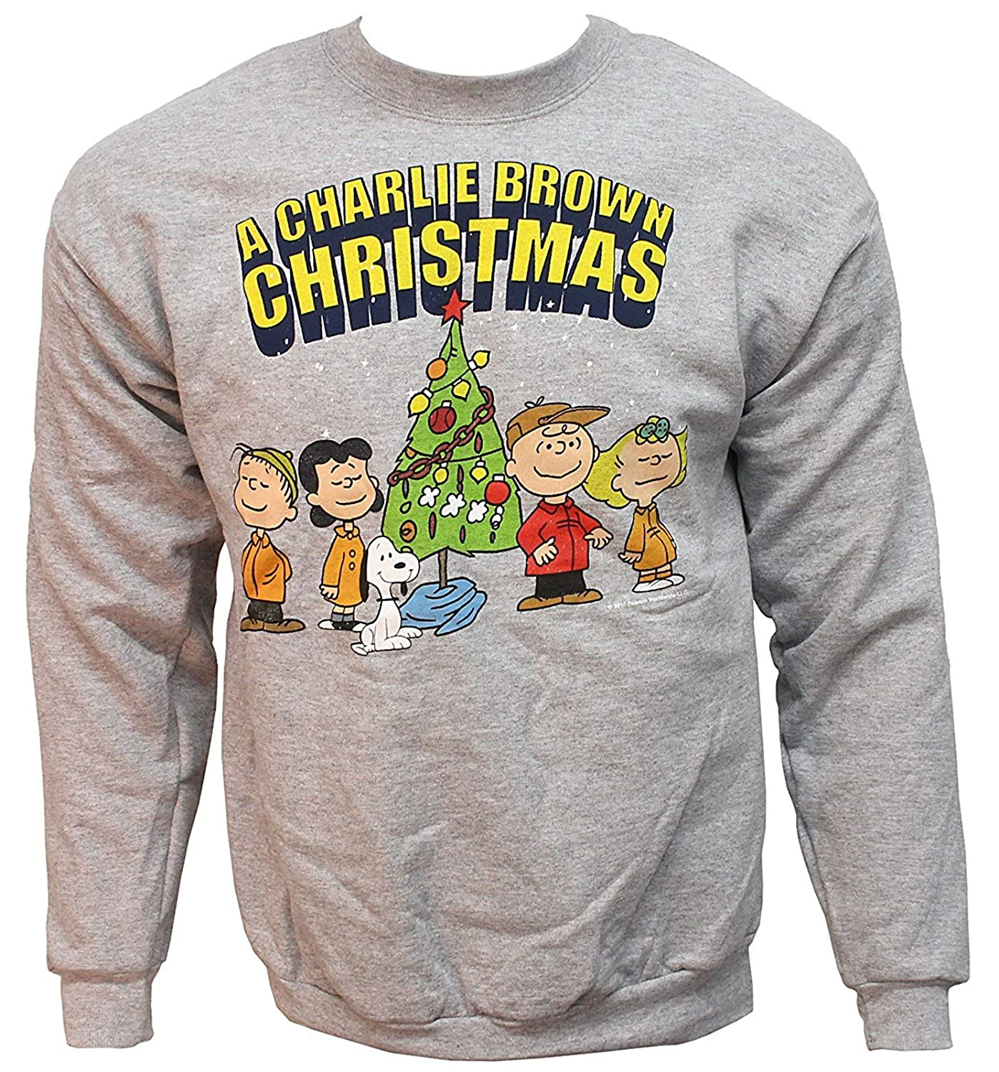 Amazon.com: Peanuts A Charlie Brown Christmas Graphic Sweatshirt For Adults (Small): Clothing