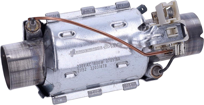 Wessper 1800W Elemento calefactor de lavavajillas Beko DFN 6837