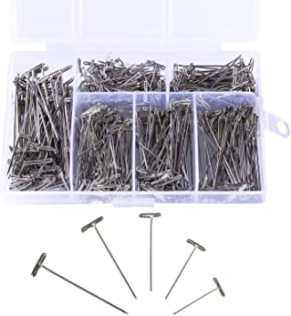 450 Pieces Steel T-Pins Nickel Plated