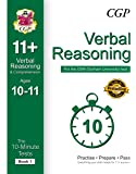 10-Minute Tests for 11+ Verbal Reasoning Ages 10-11 (Book 1) - CEM Test (CGP 11+ CEM)