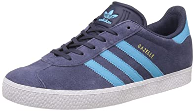 premium selection d7e01 c342a adidas Boys Gazelle Trainers, Grey (Midnight GreyBright CyanGold Met
