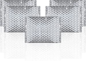 Amiff Thermal Insulated Bubble Mailers 13.75 x 10.5 Food Grade Padded envelopes 13 3/4 x 10 1/2 Pack of 5 Silver Cushion envelopes. Peel and Seal. Metallic foil. Mailing, Shipping, Packing.