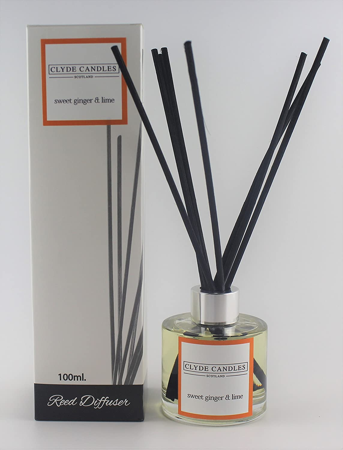 Sweet Ginger & Lime Reed Diffuser - Clyde Candles: Amazon.co.uk ...