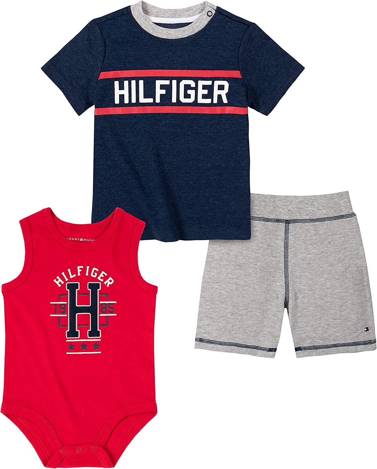 Tommy Hilfiger Baby Boys 3 Pieces Shorts Set