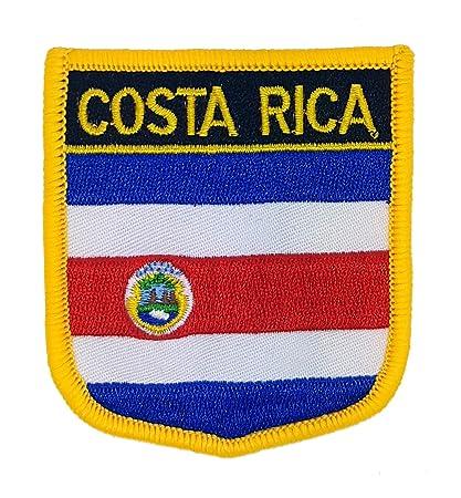 Parche bordado de la bandera de Costa Rica para coser o planchar, diseño de la