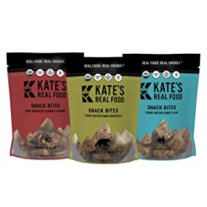 Kate's Real Food Organic Granola Bites, Non-GMO, All-Natural Ingredients, Gluten-Free and Soy-Free Healthy Snack with Natural Flavors (Pack of 3)