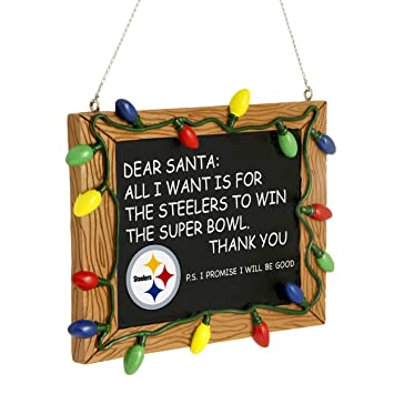 Amazon.com : NFL Pittsburgh Steelers Resin Chalkboard Sign ...