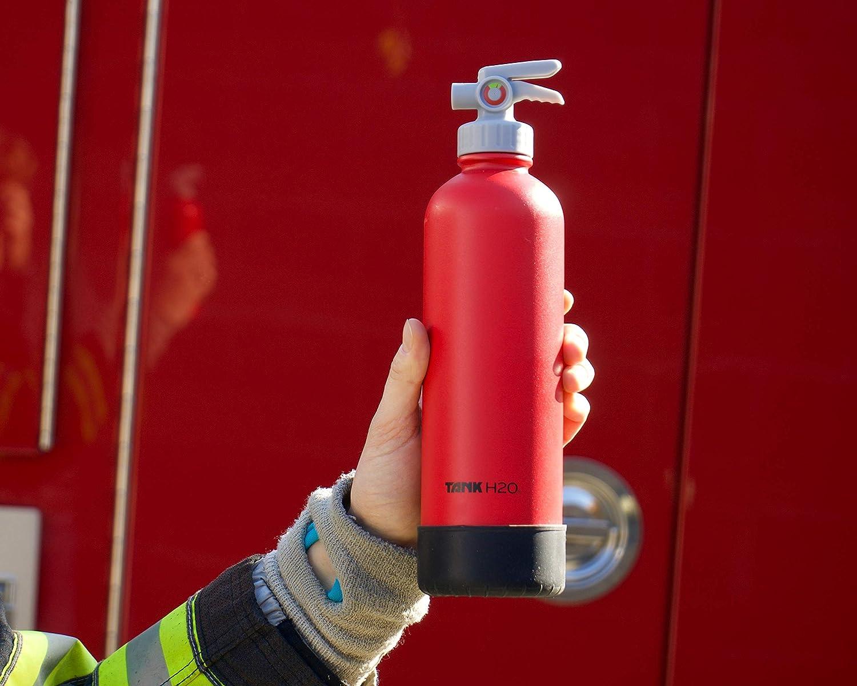 Contiene 700mL Silicone Boot Food-Grade Bottiglia in Acciaio Inox TankH2O Estintore Vuoto Isolato Bottiglia di Acqua: Grande Dono e Accessorio per Vigili del Fuoco cap BPA