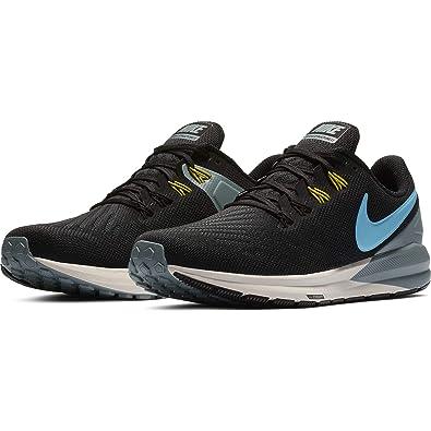 Nike Men's Air Zoom Structure 22 Running Shoe BlackBlue FuryAviator Grey Size 13 M US
