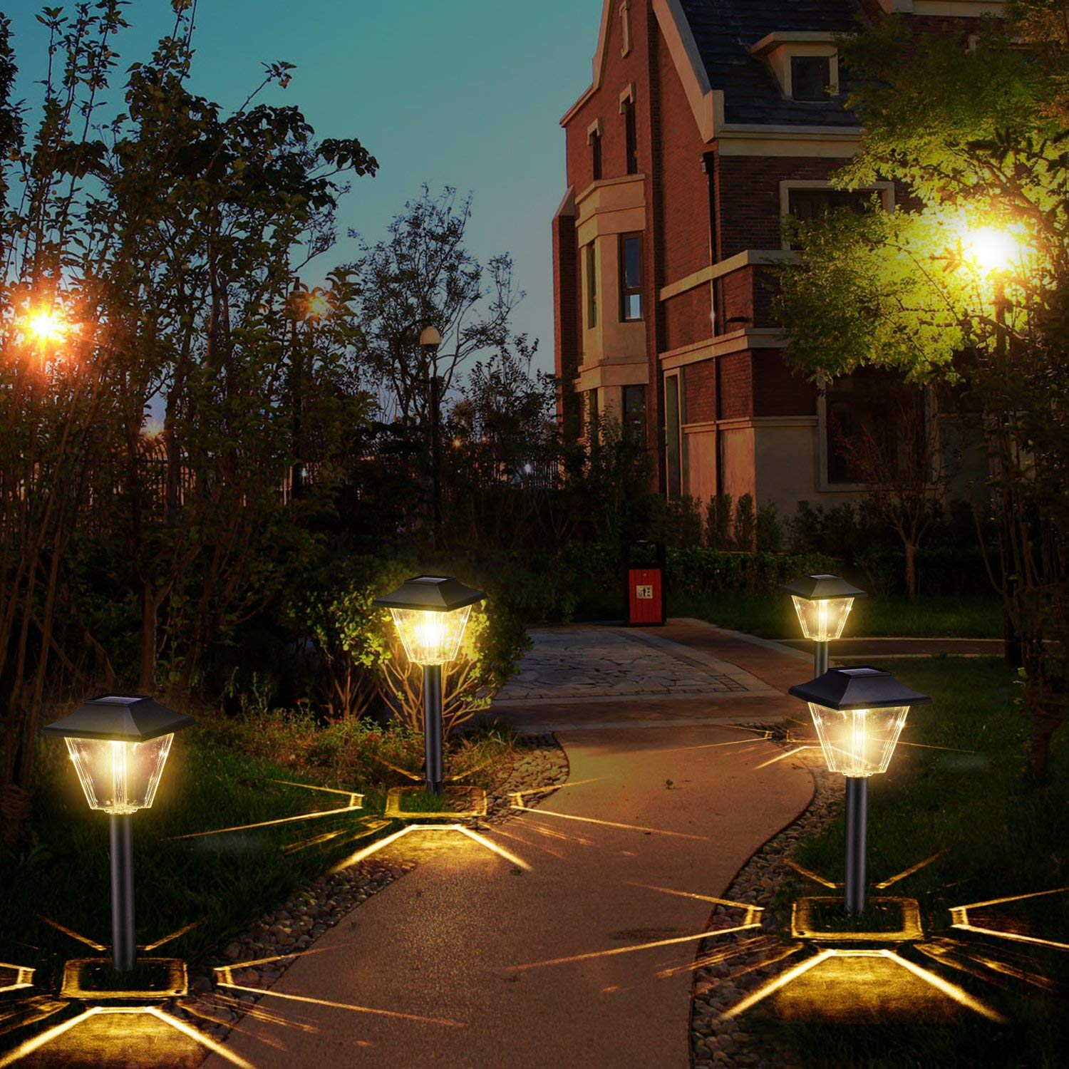 Amazon.com: Sunwind Solar Powered Garden Lights - 6 Pack Square Waterproof  Outdoor Path Lights Solar Powered for Path Patio Lawn Backyard Landscaping  ... - Amazon.com: Sunwind Solar Powered Garden Lights - 6 Pack Square