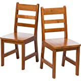 """Lipper International 523-4P Child's Chairs for Play or Activity, 12.38"""" W x 15"""" D x 26.63"""" H, Set of 2, Pecan Finish"""