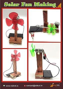 StepsToDo Solar Fan Making Kit | Do It Yourself Science Kit | STEM Learning Toy