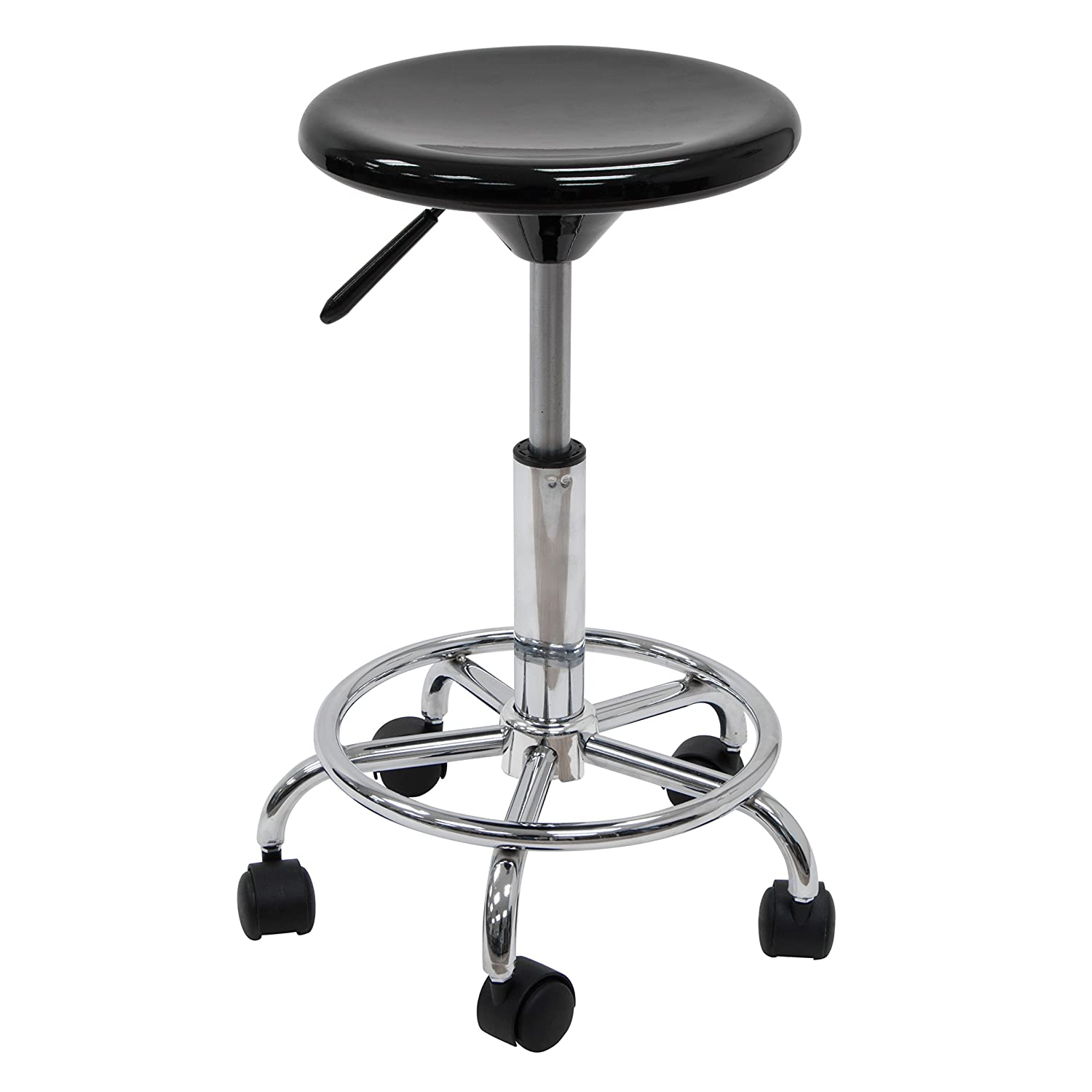 Amazon.com Studio Designs Studio Stool in Black with Chrome 13177 Arts Crafts u0026 Sewing  sc 1 st  Amazon.com & Amazon.com: Studio Designs Studio Stool in Black with Chrome 13177 ... islam-shia.org