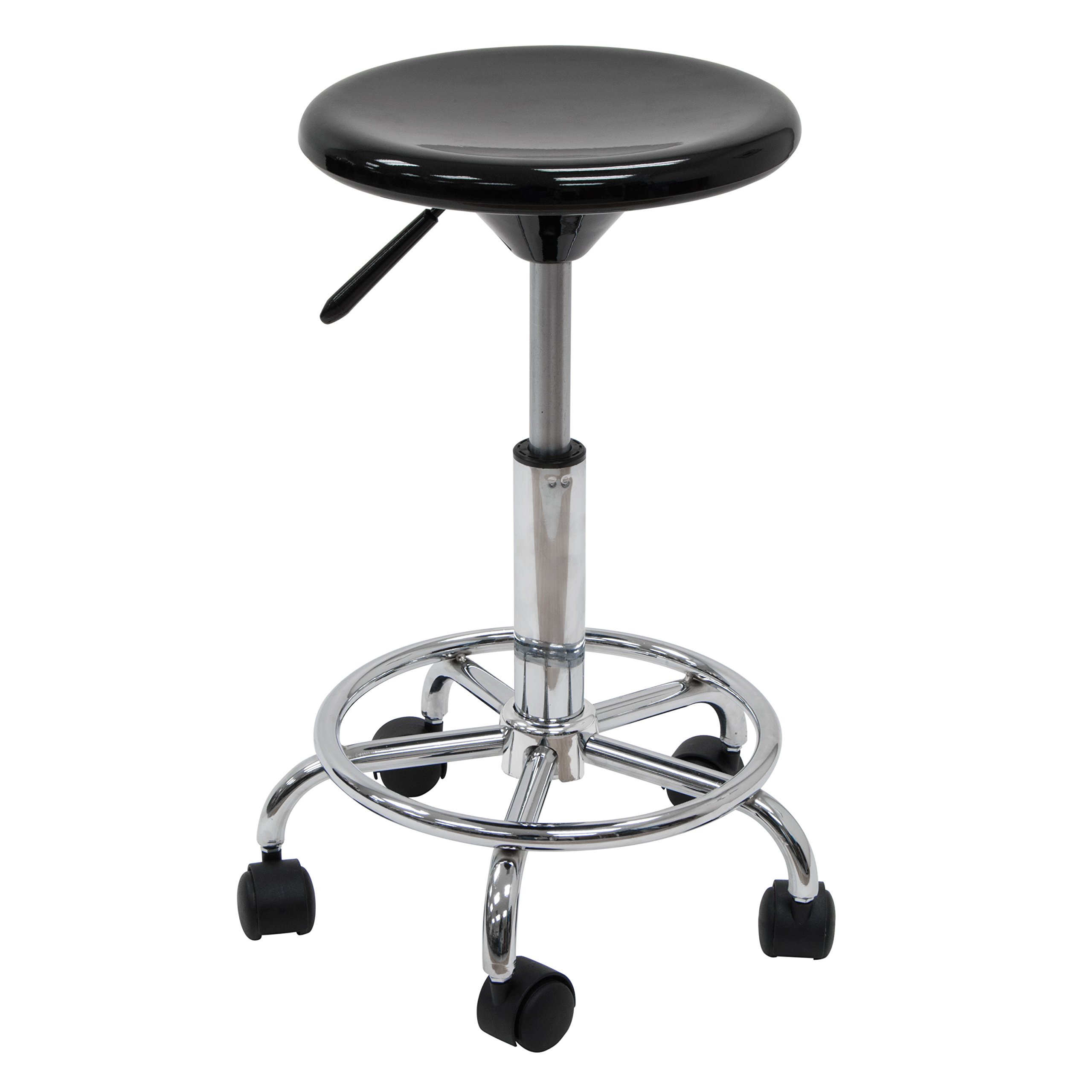 Studio Designs Studio Stool in Black with Chrome 13177