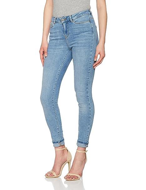 Vero Moda Vmseven NW Supslim Jeans Ba958 Noos - Pantalones Vaqueros Delgados Mujer