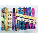 and So Much More!!! Enjoy These Fun Pattern Hand-Bands at School Mega Bulk Pack of 100 Assorted Print Heart and Animal Slap Bands Toy Cubby Slap Bracelets Classroom Awards.. Birthday Parties