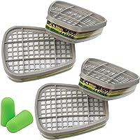 3M Filtros 6059 ABEK1 s - Filtro de Gases y Vapores, 4 piezas con SmartProduct Tapones para los oídos