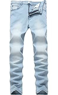 d12d7fdd3049 NITAGUT Men's Ripped Skinny Destroyed Slim fit Jeans Pants with Holes