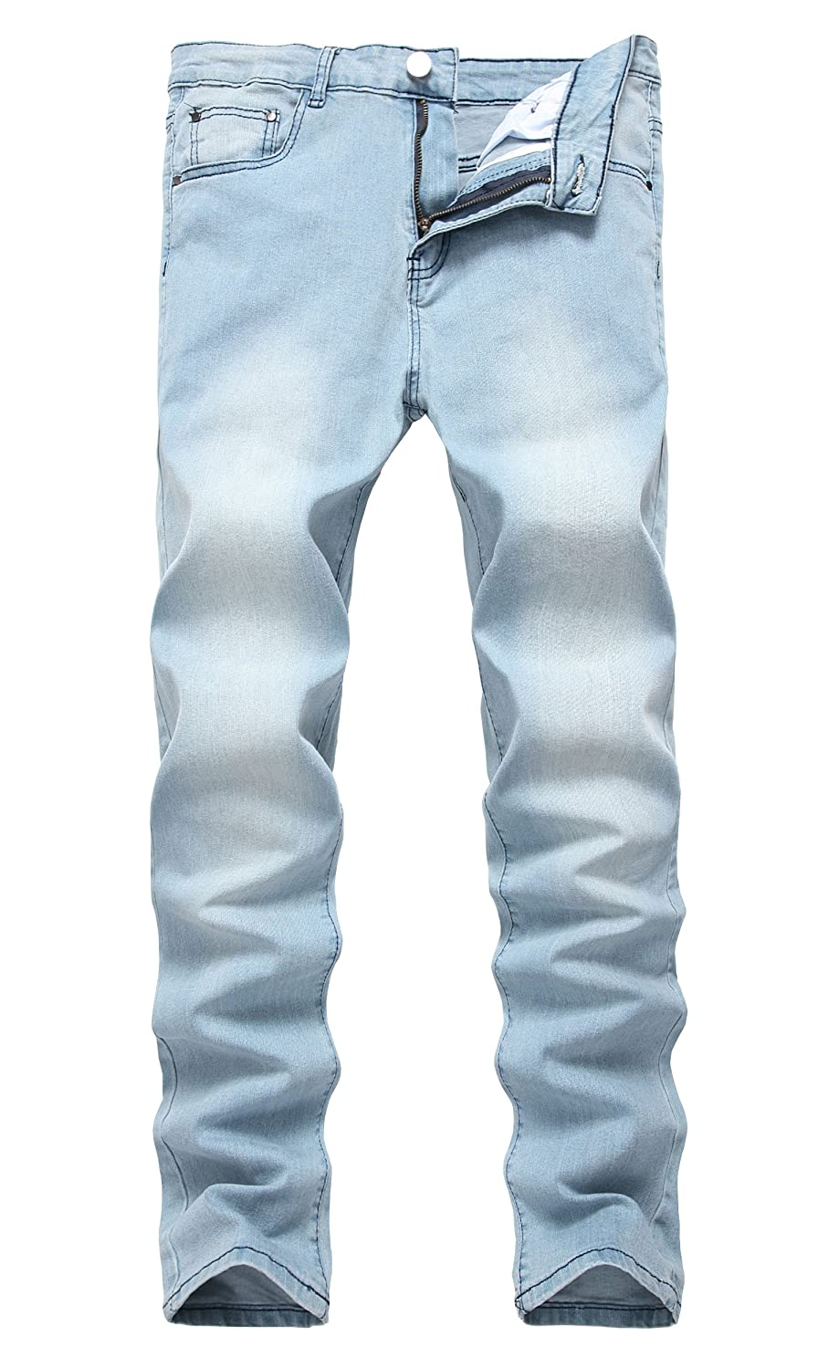 bb4062a408 NITAGUT Men s Ripped Skinny Destroyed Slim fit Jeans Pants with Holes at  Amazon Men s Clothing store