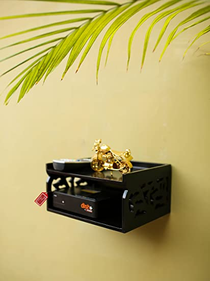 Onlineshoppee Wooden Set Top Box Wall Shelf