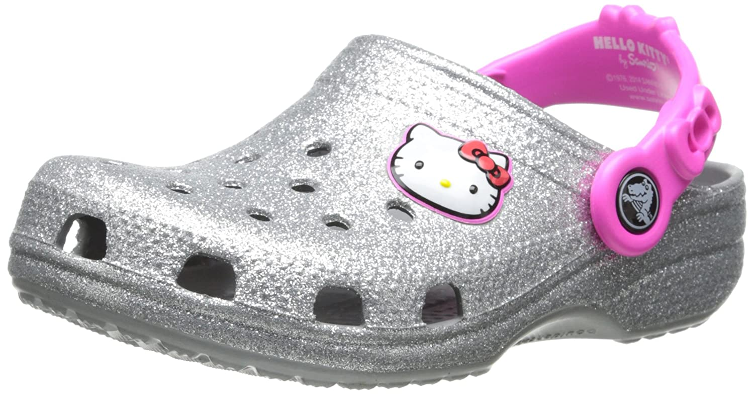 Crocs Girls' Hello Kitty Glitter Clog