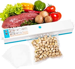 Kneysan Home Handheld Vacuum Sealer Machine|All Kinds Of Food Vacuum Sealer For Dry & Moist Modes|Small Appliances|Vacuum Seal A Meal|Mini-type And Small Low Noise Vacuum Sealer Machine|Automatic Operation Vacuum Air Sealing|Easy to Use And Clean Vacuum Sealer Packing Machine With 17*25CM 10 Bags For Free