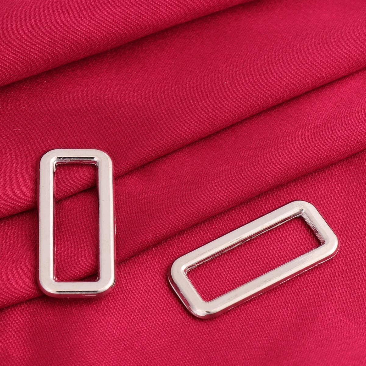 Healifty 30 St/ücke Rechteck Ring Schnallen Gurtband Schleifen Einsteller Platz Schnalle f/ür Handtaschenriemen DIY Zubeh/ör Tasche Machen