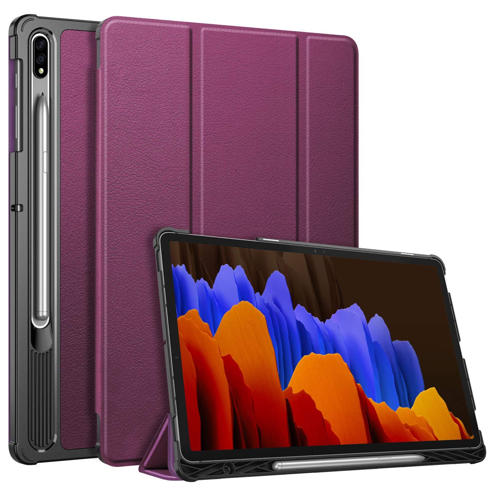 Funda para Samsung 12.4 Tab S7 Plus SM-T970 2020 Purple Fin